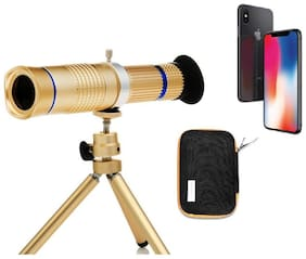 Crystal Digital  Universal 20XZoom Telescope and Mini Stable Stand Mobile Camera Lens with Tripod & Phone Holder for Redmi 6