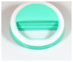 Crystal Digital LED Selfie Ring Light Clip-on Camera Adjustable 3 Level Light Settings for Smartphones, for Night Time or Dark Rooms