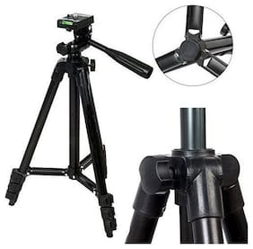 Crystal Digital 3120 Portable and Foldable Camera-Tripod with Mobile Clip Holder Bracket,3 Section Adjustable Travel Tripod