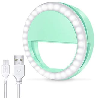 Crystal Digital Portable Selfie Beauty 3 Modes Circle Selfie Ring Light LED Selfie Light for iPhone, Android & iPad Series