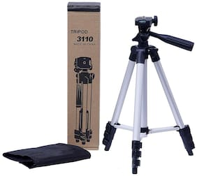 CHG 3110 Foldable Camera Tripod with Mobile Clip Holder Bracket (Black)