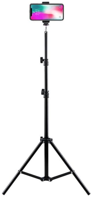"Crystal Digital 7 Foot Tripod Aluminum Compact Photography Light Stand with 1/4"", 3/8"" & 5/8"" Thread"