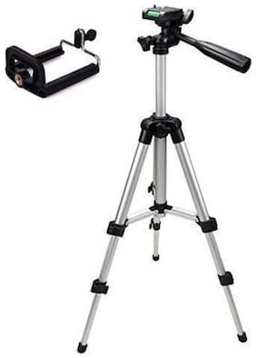 CRYSTAL DIGITAL 3110 Foldable Camera Tripod with Mobile Clip Holder Bracket (Black)