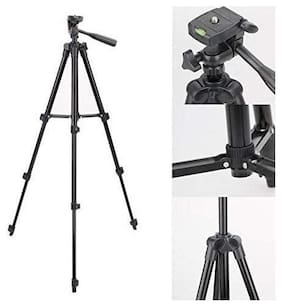 TSV 3120 Tripod/Mount with 360 deg 3D Head with Quick Release Plate  Portable/Foldable Tripod for Mobile Phones & Cameras