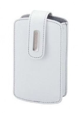 CSCH-30WT: Olympus genuine leather case for compact digital camera, White