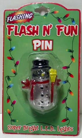 D.M. Production's 'Flash n' Fun' pin. In original package. Never opened.