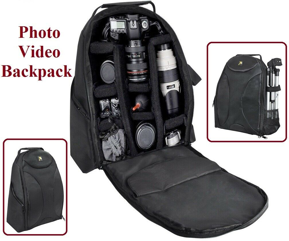 Deluxe Pro Backpack Camera Case For Canon EOS Rebel 70D 1D x II 5Ds 6D