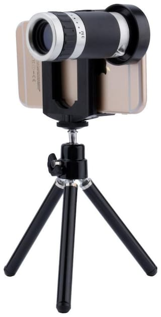 Designed For Iphone X TSV  8X Extra Zoomer Optical Zoom Telescope Mini tripod with flexible legs 5 Layers Professional Grade Optical Glass