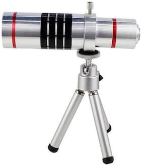 Designed For Iphone X TSV  18X Zoomer Optical Zoom Lens Telescope With Tripod flexible legs 5 Layers Professional Grade Optical Glass
