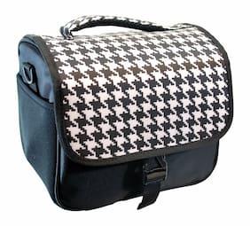 Designer Houndstooth DSLR Camera Bag, HAN-E226678EQ1000