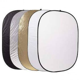 "Digiom 59""x79"" 150 x 200cm 5 in 1 Portable Collapsible Light Round Photography Reflector for Studio Reflector"