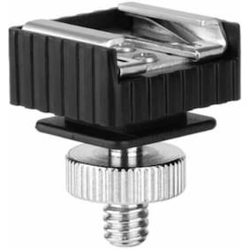 "Digiom Flash Hot Shoe Mount Adapter to 1/4 Thread Hole with 1/4""-20 Male to 1/4""-20 Male Tripod Screw Adapter"