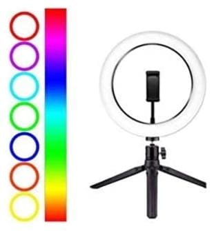 Digiom MJ 33 13 Inches RGB LED Soft Ring Light, RGB Flash Ring Light for Camera Smartphone YouTube Video Shooting and Makeup Light and for Many More