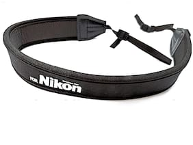 Digiom Neoprene Soft Camera Neck Shoulder Strap Belt for DSLR Camera Strap (Black)