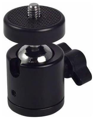 Digiom Swivel Mini Ball Head 1/4 Screw DSLR Camera Tripod Ball head Stand Support Flash Shoe Adapter