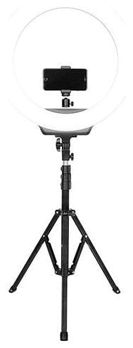 Digitek DRL-19H 19 inch Professional LED Ring Light with 5 feet Stand & Cell Phone Holder & 3 Light Mode.