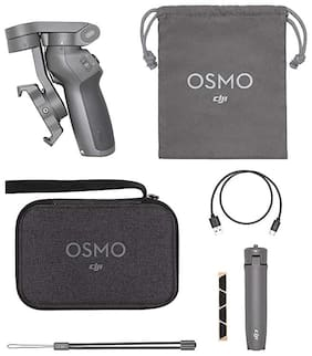 DJI Osmo Mobile 3 Handheld Smartphone Gimbal Combo (Grey)| with Carrying case and OSMO Grip Tripod