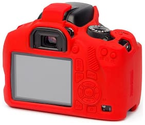 Easycover protective silicone DSLR camera case for  Canon 1300D (Red)