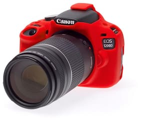 easycover protective silicone cover DSLR camera case for  CANON 1200D RED