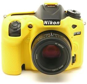 easycover protective silicone cover DSLR camera case for  NIKON D7100 YELLOW