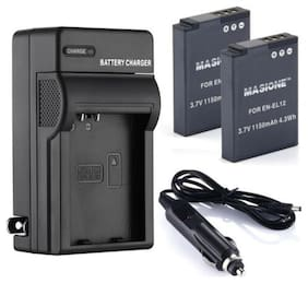 EN-EL12 Battery/Charger For Nikon Coolpix AW110 AW100 S6000 S6300 S8000 S9200