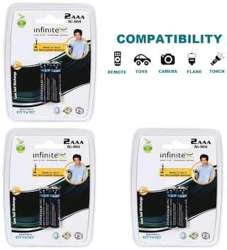 Envie 2PL-1100Mah|Pack of  3| Ni-MH Rechargable Battery