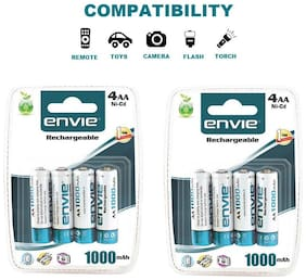 Envie 4PL-1000Mah|Pack of  2| Ni-CD Rechargable Battery