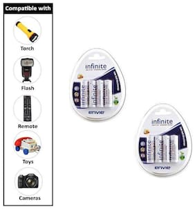 Envie 4PL-2100Mah Pack of  2  Ni-MH Rechargeable Battery