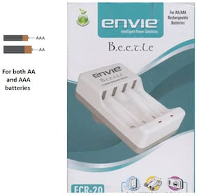 Envie Beetle ECR-20 Battery Charger (White)