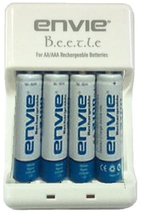 Envie Beetle Charger ECR-20 With 4xAA 1000 Ni-Cd Battery