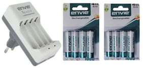 Envie ECR-20+8xAA 1000mAh Battery Charger with Rechargeable Battery Set