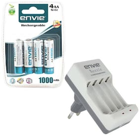 Envie Stealodeal Bettle ECR-20 |Combo With| 4xAA 1000 Ni-CD rechargeable  Battery Charger