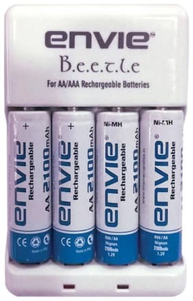 Envie Stealodeal Bettle ECR-20 |Combo With| 4xAA 2100 Ni-MH rechargeable  Battery Charger