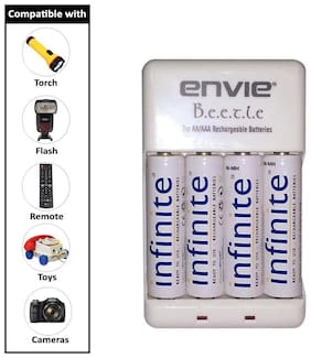 Envie Stealodeal Bettle ECR-20 |Combo With| 4xAA 2100mah rechargeable  Battery Charger