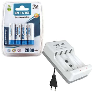 Envie Stealodeal Polo ECR-4 With 4xAA 2800 Ni-MH rechargeable  Battery Charger