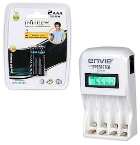Envie Stealodeal Speedster ECR-11 + 2xAAA 1100 Ni-MH rechargeable  Battery Charger