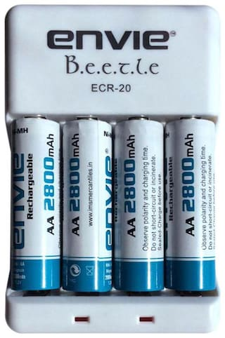 Envie Stealodeal Bettle ECR-20 |Combo With| 4xAA 2800 Ni-MH rechargeable  Battery Charger