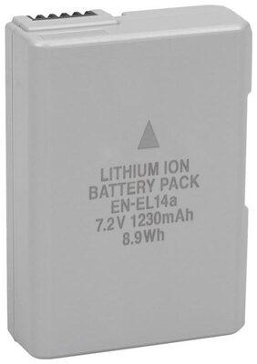 Eshopher En-EL14a Camera Battery Capacity of 1230mah