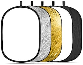 FND 40x 60 100 X 150 cm 5 in 1 Collapsible Multi-Disc Light Reflector with Bag - Translucent  Silver  Gold  White and Black