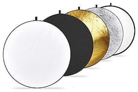 FND 42-inch / 107 cm 5 in 1 Collapsible Multi-Disc Light Reflector with Bag - Translucent  Silver  Gold  White and Black