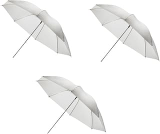 FND Professional White Umbrella 100cms 36 inch/91cm for Photography Studio (Translucent White Diffuser Photography Umbrella) Pack of 3