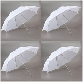FND Professional White Umbrella 100cms 36 inch/91cm for Photography Studio (Translucent White Diffuser Photography Umbrella) Pack of 4