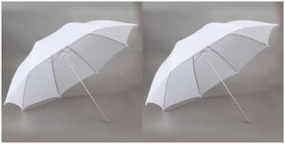 FND Professional White Umbrella 100cms 36 inch/91cm for Photography Studio (Translucent White Diffuser Photography Umbrella) Pack of 2