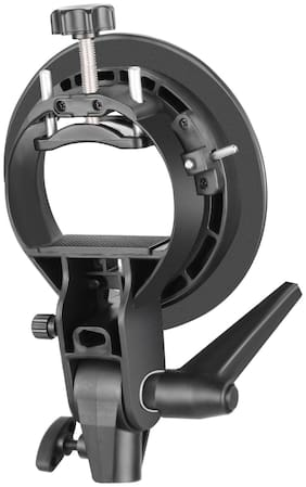FND S-Type Bracket Replacement for Godox & Bowens S Mount Holder for Speedlite Flash Snoot Softbox Honeycomb (S Bracket) with Hand Grip