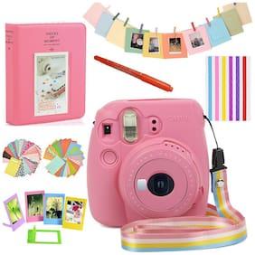 For Fujifilm Instax Mini 9 Film Camera Silicone Bag Case Cover + Album + Accs US
