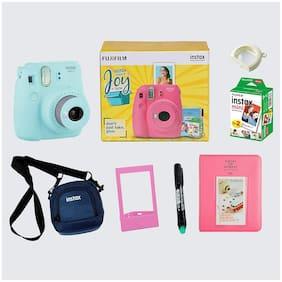 Fujifilm Instax Mini 9 Joybox 0.6 MP Instant Camera ( Blue )
