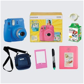 Fujifilm Instax Mini 9 Joybox 0.6 MP Instant Camera ( Blue )