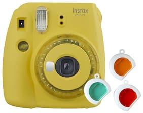 Fujifilm Instax Mini 9 Instant Camera (Clear Yellow)