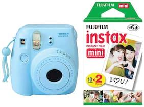 Fujifilm Instax Mini 8 0.6 MP Instant Camera With Film (Blue)