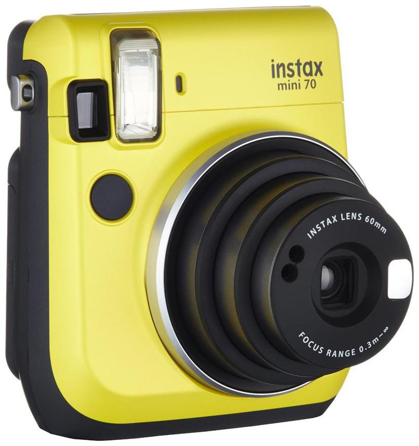 Fujifilm Instax Mini 70 Instax Mini 70 0.6 MP Instant Camera   Yellow   by Photo Vatika